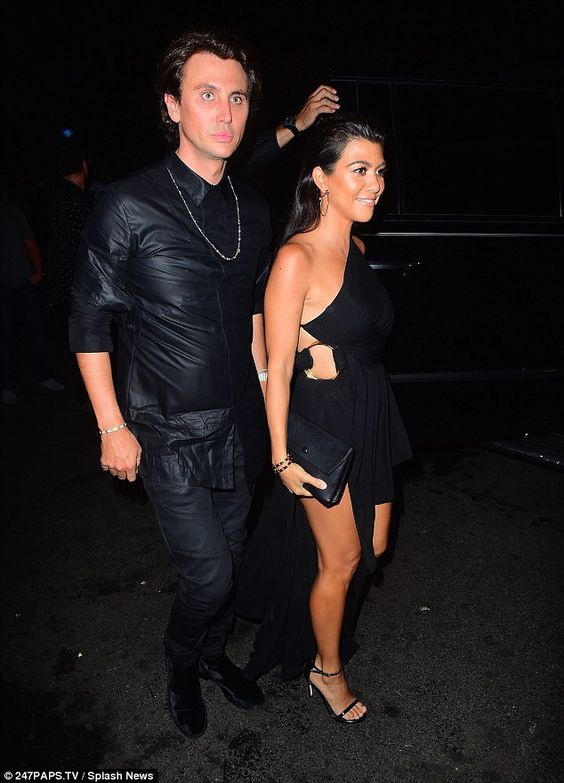 Her buddy: The siren with Jonathan Cheban heading into 1OAK in NYC...