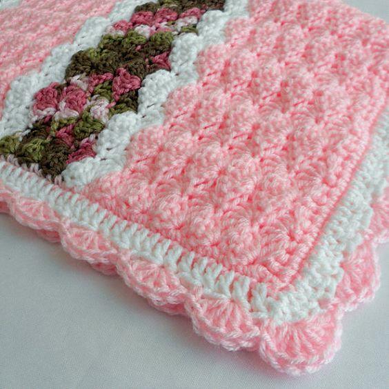 Free Online Crochet Baby Afghan Patterns : Crochet Pattern - Cameron Baby Afghan Babyghan - Throw ...
