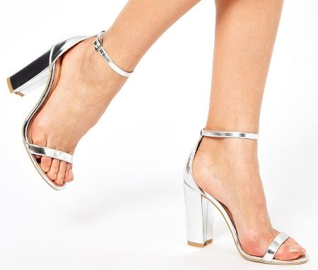 Image result for silver block heel sandals | shoes | Pinterest ...