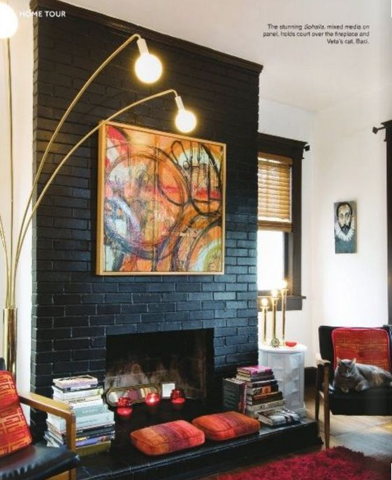 Summertime Home Styling: freshening up the fireplace — The Decorista