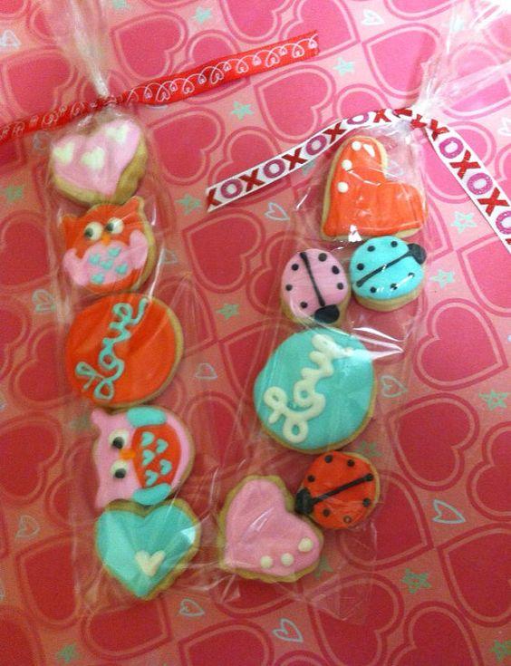 Owl/LoveBug Valentine's Day Mini Cookie Favors (5Dozen)