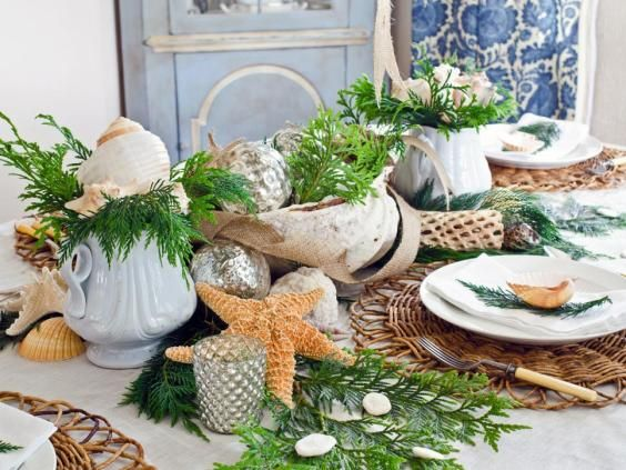 3 Tips For The Perfect Holiday Table Beach Table Decorations Christmas Centerpieces Christmas Table