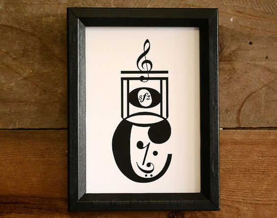 Music note art print | Drum Major Marching Band music art print | Music artwork | 8x10 Black & white art print | Perfect gift for musician! on Etsy, $16.00