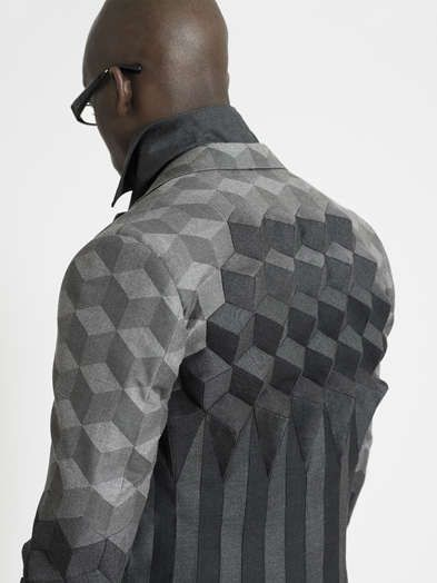 Pattern: Tessellation.  Respectfully: I just NEED the matching silk or woolen scar for this ..follow me?: