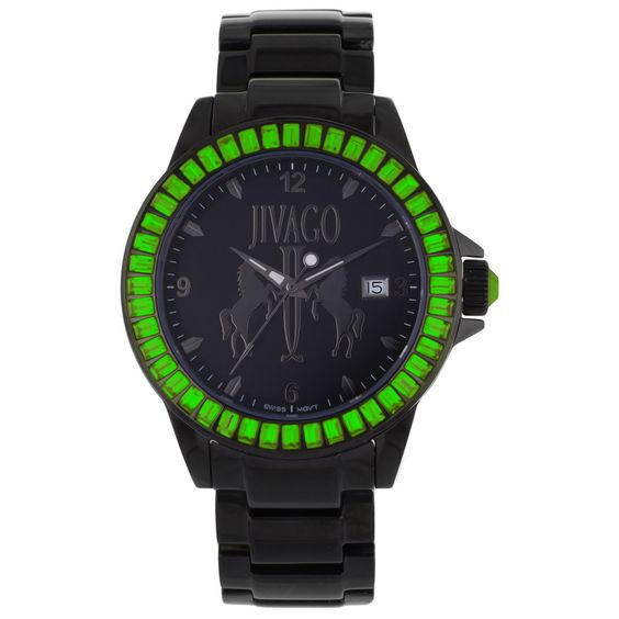 Jivago Women's 'Folie' Watch with Green Accents