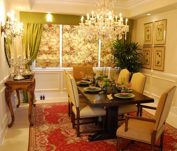 Dining room designed by me @ Sienna Blanca Design