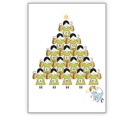 Weihnachtspyramide aus süßen Engeln auf weiß: Frohe Weihnachten - http://www.1agrusskarten.de/shop/weihnachtspyramide-aus-susen-engeln-auf-weis-frohe-weihnachten/    00000_1_2411, Grusskarte, Klappkarte Rentier, Santa Sterne, Schneemann, Tanne, Weihnachtsbaum Engel, Weihnachtsmann, Winter00000_1_2411, Grusskarte, Klappkarte Rentier, Santa Sterne, Schneemann, Tanne, Weihnachtsbaum Engel, Weihnachtsmann, Winter