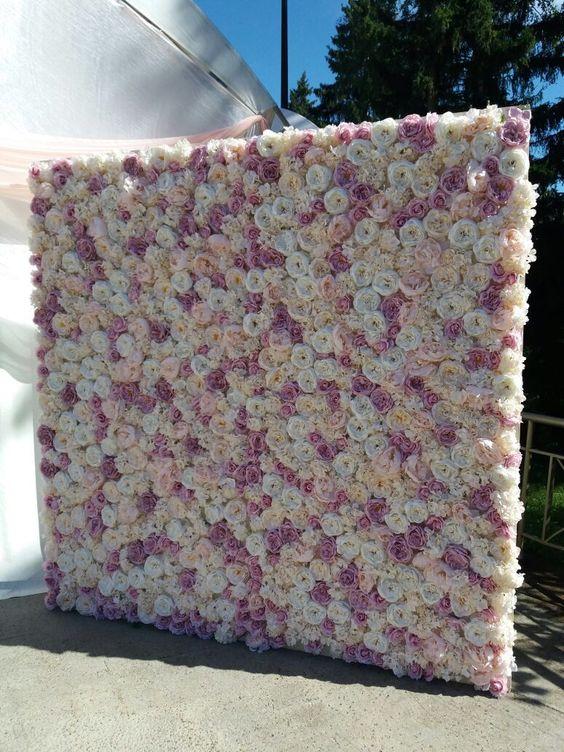 Купить Зефирно и романтично! Стена из Цветов - фотозона на свадьбу, цветочная стена, стена из цветов