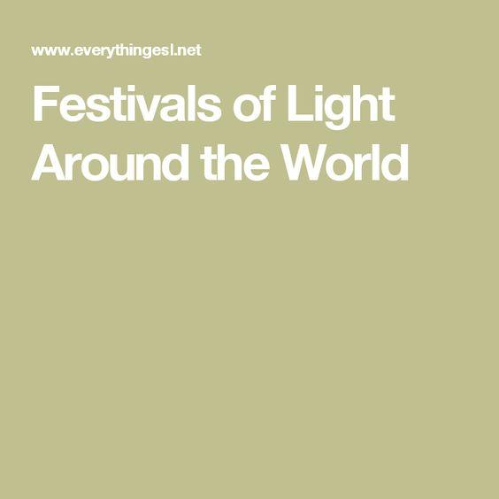 Festivals of Light Around the World