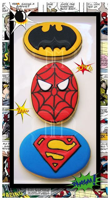 galletas de superheroe
