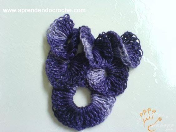 Motivo de Croche Uva em Cascata - Aprendendo Crochê
