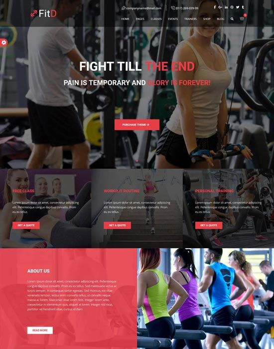 40 Best Fitness Gym Website Templates Free Premium Freshdesignweb Free Website Templates Website Template Fun Workouts