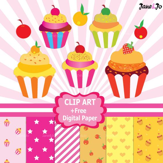 50%OFF SALE Cupcake Clipart ,Commercial Cliparts,Sweet Clipart,Cupcake pattern digital paper print,Sweet Cupcake background,Instant Download by JaneJoArt on Etsy https://www.etsy.com/uk/listing/226204984/50off-sale-cupcake-clipart-commercial