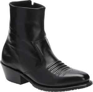 Men's Double H Boot 6 Inch Side Zipper - Black