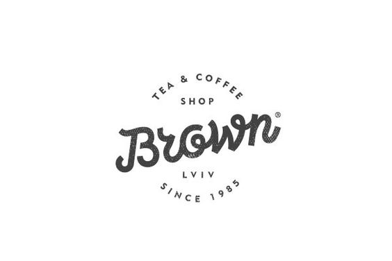 """Logo uses only one color which is black. It is a very simple logo with as simple name """"Brown Tea and Coffee"""":"""