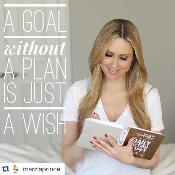 I just adore @marziaprince bc she's a true inspiration to so many women myself included. And I freaking love her post on setting & achieving daily goals. #goaldigger #goalsetting #goalcrusher by socialeyesmktg