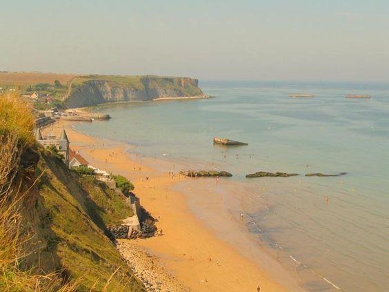 Spiaggia di Arromanche, luoghi dello sbarco - Normandia -