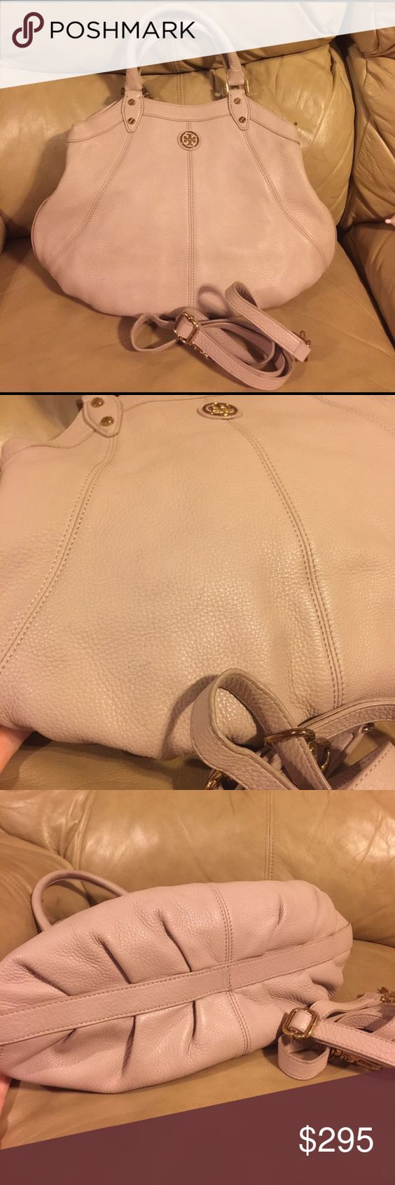 Tory Burch Robinson Very cute good condition, minor wear, comes with strap. Beautiful color! Wear in handles. Priced to sell, TV higher. Tory Burch Bags Hobos