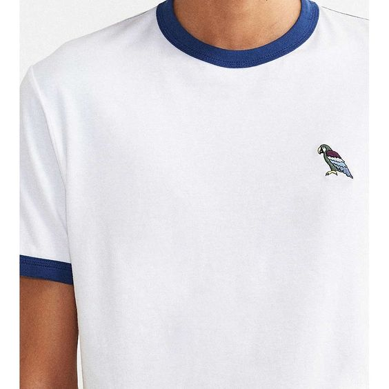 UO Embroidered Parrot Ringer Tee by Urban Outfitters | Spring - Free Shipping. On Everything.
