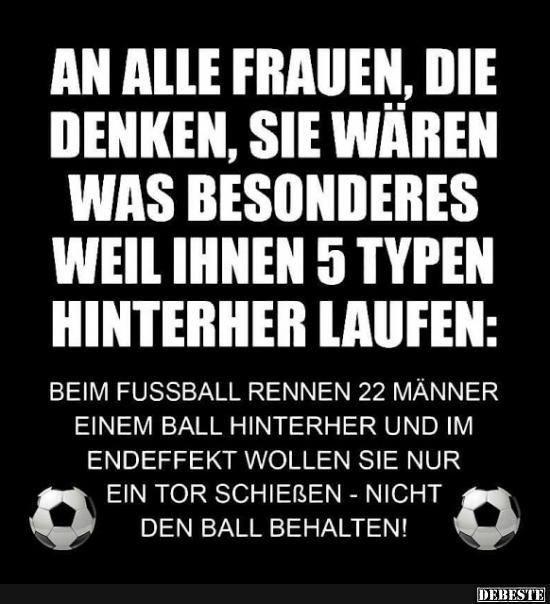 Frauen 5 Typen Fussball 22 Spieler Lustig Witzig Spruche Bild