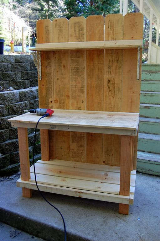 Build your own potting bench