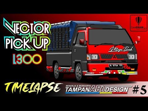 Mitsubishi L300 Pick Up Modifikasi Vector Art Keren Tampan Art Design Coreldrawx7 Youtube Vector Instagram