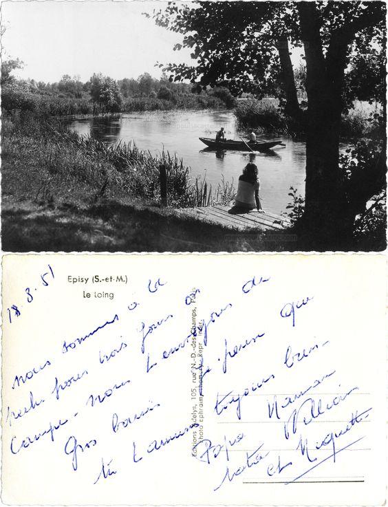 Episy (S.-et-M.) - Le Loing - 1951 (from http://mercipourlacarte.com/picture?/1843/)