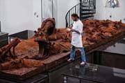 PATRICK ROGER  HIPPO-CHOCO EN VOIE DE DISPARITION, CHOCOLATE SCULPTURE , ENDANGERED SPECIES