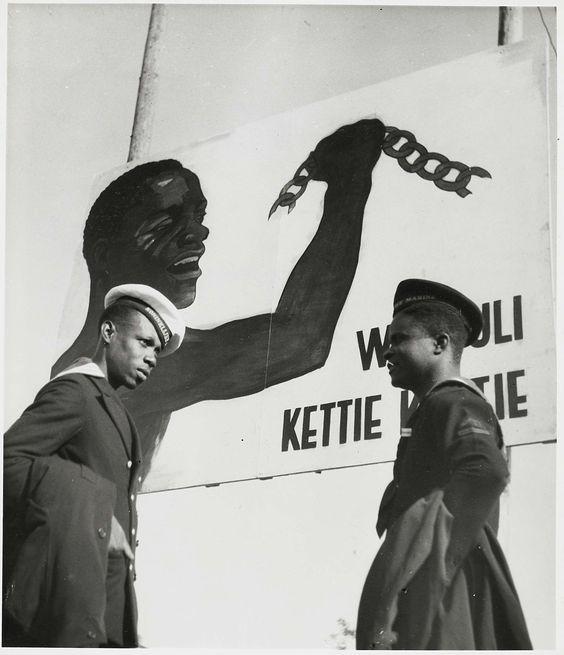 Liberté // Surinaamse matrozen tijdens het Keti-Koti feest, Kerkhoff en Scherer, 1948