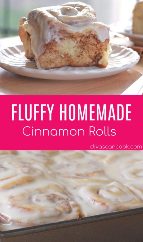 Fluffy, Homemade Cinnamon Rolls