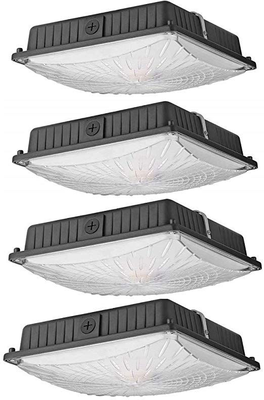 Led Parking Garage Canopy Light 30w 3900lm In 2020 Canopy Lights Ceiling Light Fixtures Ceiling Lights
