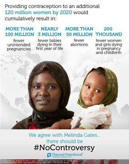 The Bill And Melinda Gates Foundation has it right. Access to contraception around the world should be no controversy.