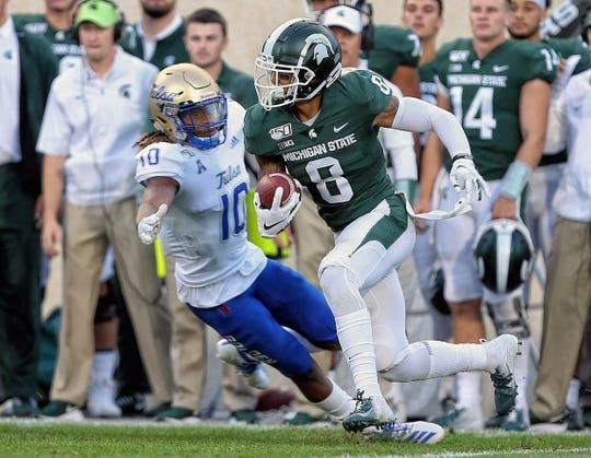 Michigan State Football Speedster Jalen Nailor Out With Lower Leg Injury In 2020 Michigan State Football Michigan Game Michigan State