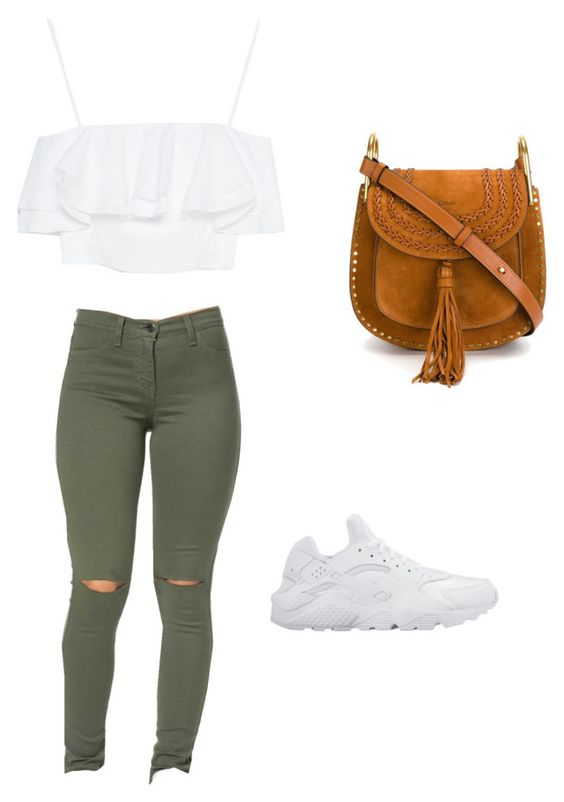 """Out to the mall"" by faithboge-1 on Polyvore featuring Zara, NIKE and Chloé"