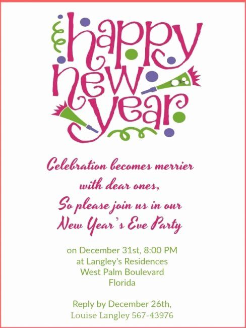 New Years Eve Party Invitation Wording Luxury New Year Party Invitation Wording 365greeti New Years Eve Invitations Party Invite Template Wedding Party Invites