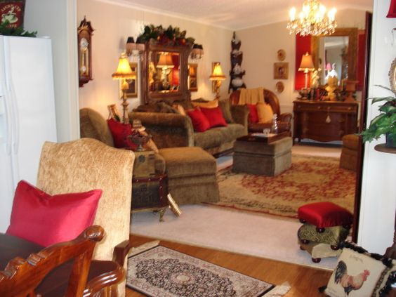 Not your average mobile home no one can believe that - How to decorate a mobile home living room ...