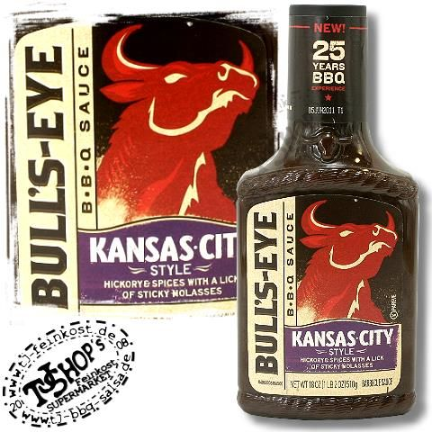 kansas city barbecue sauce | Bulls Eye BBQ Sauce Kansas City Style Grillsauce Barbecue Bulls Eye ...