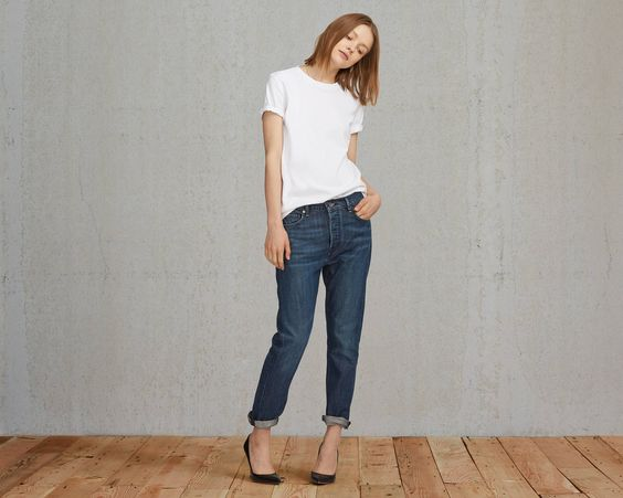 The Levi's® Made & Crafted™ Slouchy Taper is cut in our iconic boyfriend fit. This relaxed jean sits at the waist and features an ankle-length leg with a perfect tapered fit. It's a classic style with signature charm, unique to Levi's® heritage. Soft Worn comes in a dark wash of our classic indigo blue and has very subtle whiskering and fading for a casual touch.