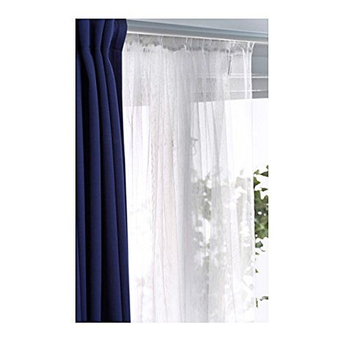 Curtains Ideas 110 inch curtain rod : Ikea Mesh Lace Curtains, 98 Inch By 110 Inch, 2 Pairs, White ...