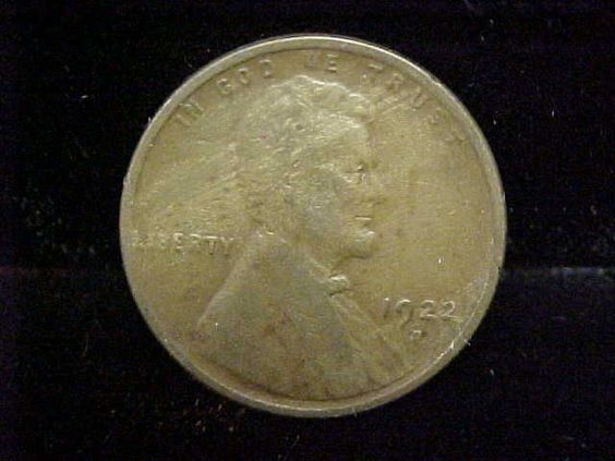 1922 D Weak 'D' Lincoln Wheat Cent VG Condition Wood Grain Priced 2 Sell   eBay