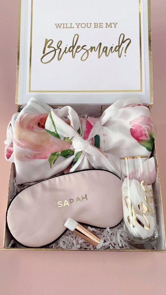 Bridesmaid Proposal Gift Ideas The Bridesmaid Proposal In 2020 Wedding Gifts For Bridesmaids Asking Bridesmaids Bridal Party Gifts