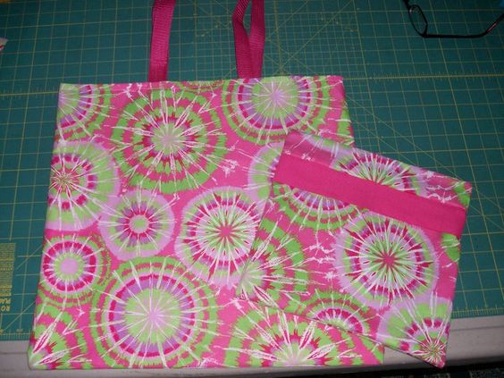 tote bag I made and a make-up bag to match