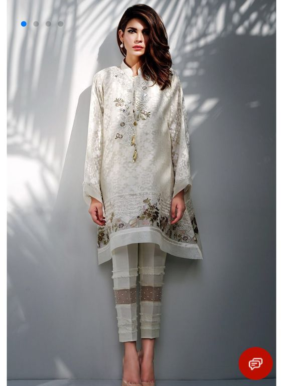 Stitching Styles Of Pakistani Dresses White Kurta