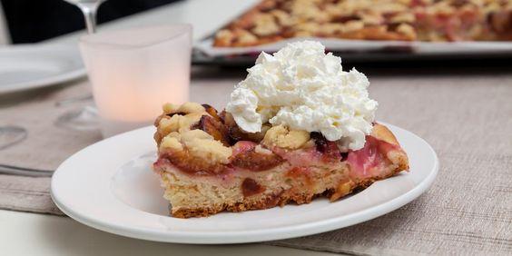 Saftiger Pflaumenkuchen   Ob zum Nachtisch oder zum Kaffee, Pflaumenkuchen geht…
