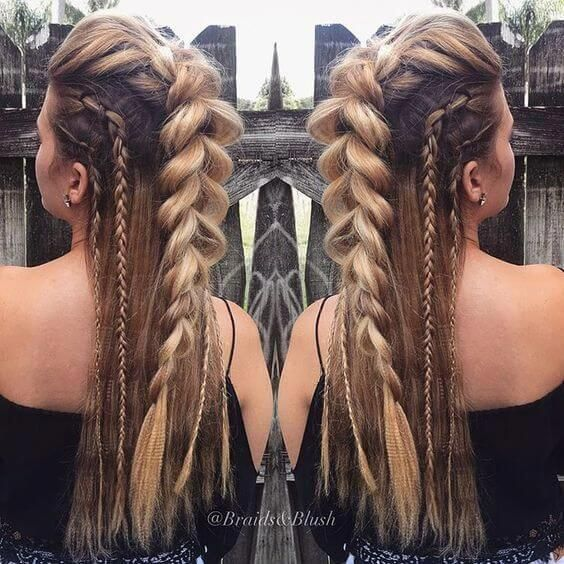 To Get That Awesome Festival Hairstyle Idea You Don T Have To Spend A Fortune With The Possibility Of High Humid Viking Hair Braids For Long Hair Hair Styles
