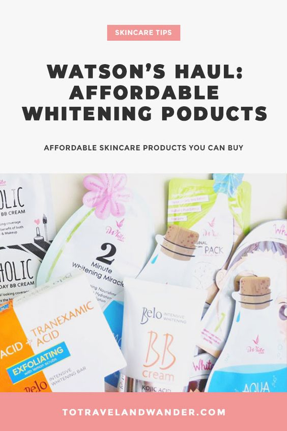 Watson's Haul: Whitening Skincare Products