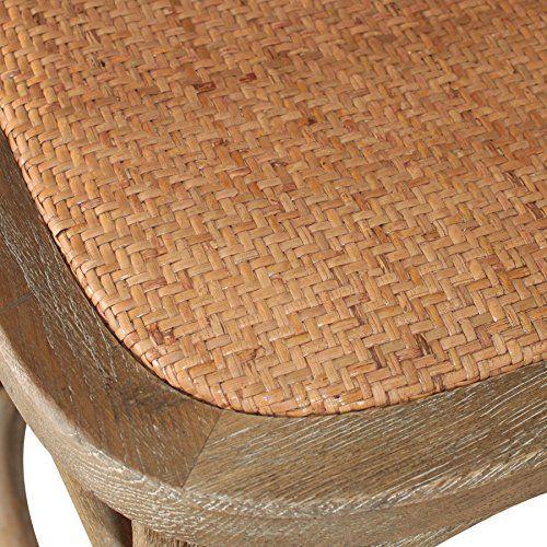 Decoración Vintage Nimes - Taburete alto de madera roble envejecido con asiento de ratán, 52 x 52 x 77/113 cm - http://vivahogar.net/oferta/decoracion-vintage-nimes-taburete-alto-de-madera-roble-envejecido-con-asiento-de-ratan-52-x-52-x-77113-cm/ -
