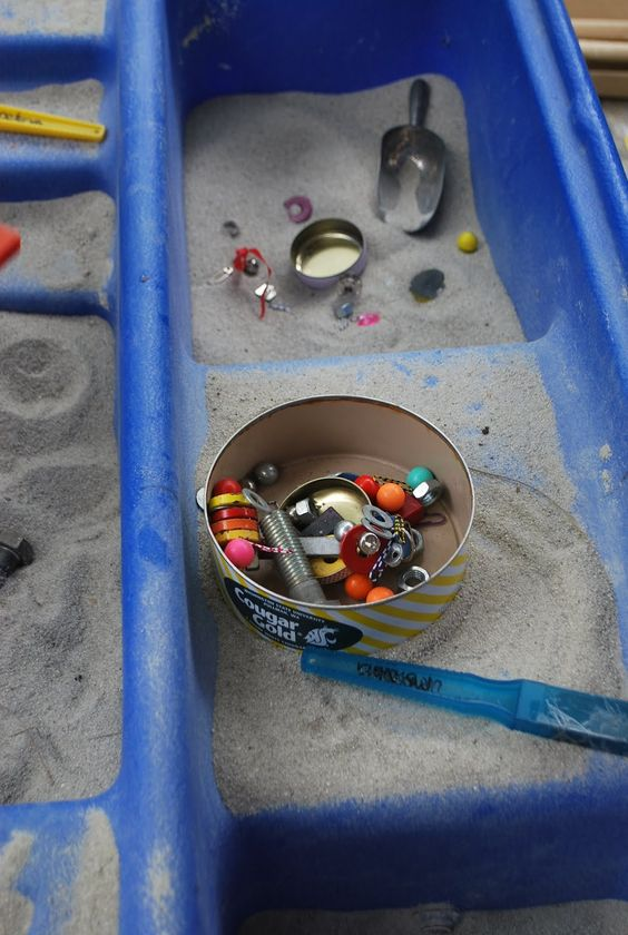 Magnet Hunt in the Sand Table | Familylicious