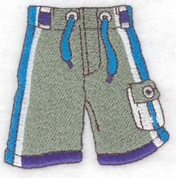 Seasons Embroidery Design: Swim Trunks from Adorable Ideas