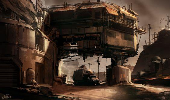 sparth - nicolas bouvier Art Director - Halo 5 RAGE bridge bunker structure